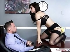 Awesome brunette milf fucking while in the office