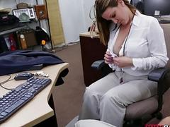 Big tits lady gets fucked by pawn guy