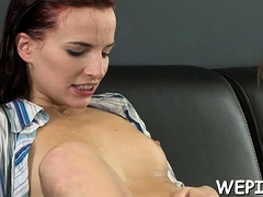 Kinky cutie and her boyfriend make pissing in a process