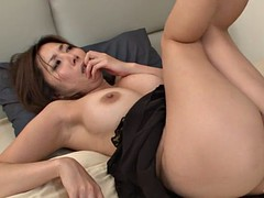 one hot asian vs two largw dildos