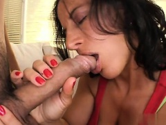 Hot housewife first swallow