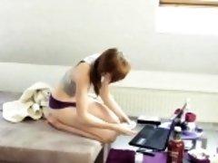Amateur Teen Anny bei der Massage