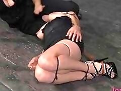 Babe loves it when her scenes are painful BDSM movie