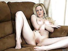 Slim naked English girl gives us JOI