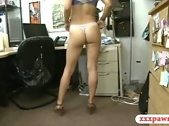 Small tits blondie woman gets nailed good by pawn dude