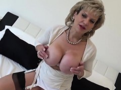 Unfaithful british mature lady sonia presents her big breast