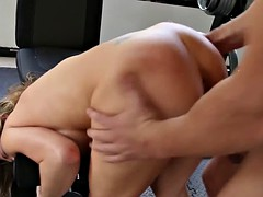 bigtitted slut fucked by strong guy in her wet pussy