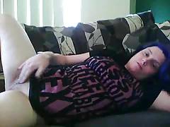 Girl vibrator masturbation
