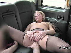 Blonde fucks for free ride around London