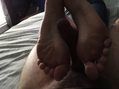 Fetish slut foot play in pov scene with cameraman