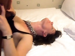 Horny mature brunette surrenders her pussy to a black stud