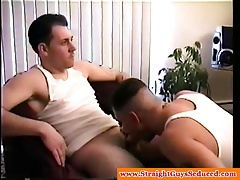 Amateur dilf sucking tattooed hunk