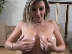 Cocksucking milf tittyfucked in pov