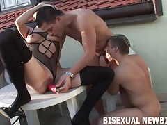 I think you are ready for your first bisexual threesome