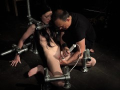 Bondage Teen in Hard BDSM punishment naughty behavior