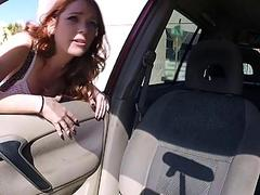 Sexy blonde Kassondra Raine gets a ride