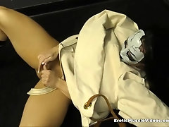 Compulsive Milking Muscle Gal Loses Grab On Reality
