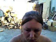 Puma Swede busty milf alone outdoor fingering
