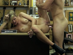 Slutty blonde chick gets fucked by Shawn
