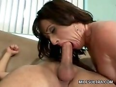 Gorgeous Cougar Jams Boner Down Mouth & Fuckhole