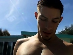 Teen masturbation long videos gay Pool Four-Way!