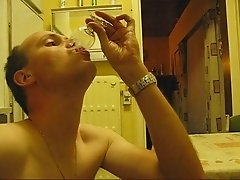 cumming in glass and drink all my cum