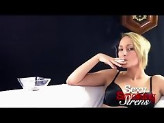 Smoking Fetish - Cirsten Black Lingerie Cigarette