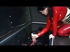 German Mistress Ties Slaves Balls and Drain Him (Zdonk)