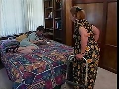 Mature brunette indulges in hot oral sex