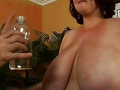 Hugetits chubby slut sucking one exotic penis