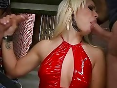 Hot hooker fucking two guys