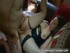 Thick brunette girl gets her tight pussy part5