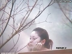 Hot spring voyeured body expose