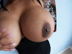 Latina with huge pov tits stripping