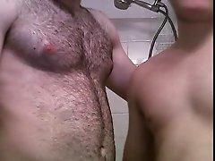 bi sex and shower