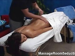 Tall Teen Seduced by Massage & Caught on Hidden Camera