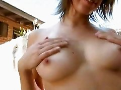 Addie Moore enjoys pleasing her moist pussy woth her toys